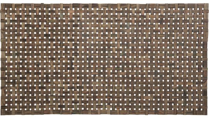 Crate & Barrel Lattice Wooden Mat