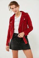 Blank NYC BLANKNYC Red My Mind Suede Moto Jacket