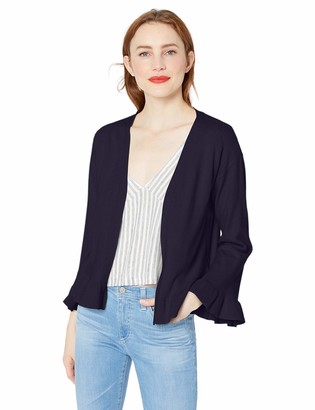 Cupcakes And Cashmere Women's Kezia Cardigan with Sleeve and Hem Flounce