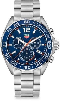 Tag Heuer Formula 1 43MM Stainless Steel & Aluminum Bezel Quartz Chronograph Bracelet Watch
