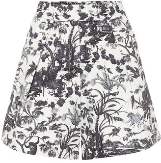 Erdem Howard high-rise cotton shorts