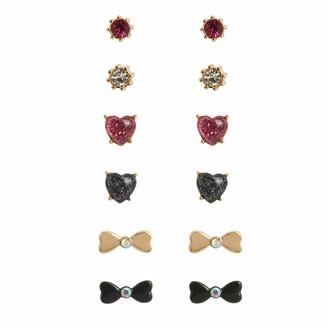 Betsey Johnson Bow Stud Earrings Set