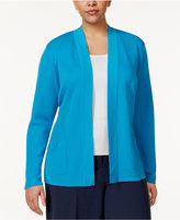 Anne Klein Plus Size Patch-Pocket Cardigan