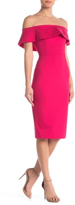 Love by Design Off-The-Shoulder Foldover Midi Dress