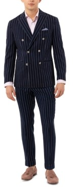 Tallia Men's Slim-Fit Double Breasted Striped Sport Coat