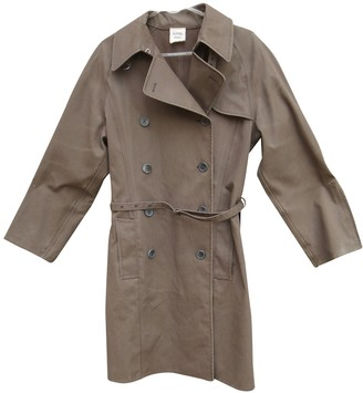 Hermes Brown Cotton Trench coats