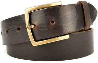 """Village Leathers Classic 1 1/2"""" Brown Leather Belt"""