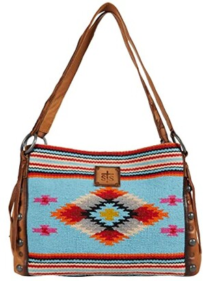 STS Ranchwear Saltillo Maggie Mae (Light Blue/Orange/Pink) Handbags