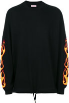 Palm Angels intarsia flame jumper