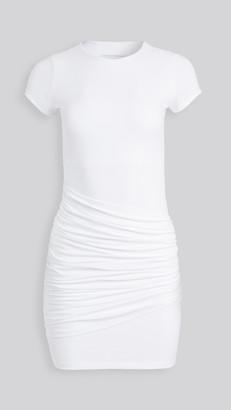 Susana Monaco Short Sleeve Gathered Overlay Dress