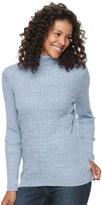 Croft & Barrow Women's Essential Ribbed Turtleneck Sweater
