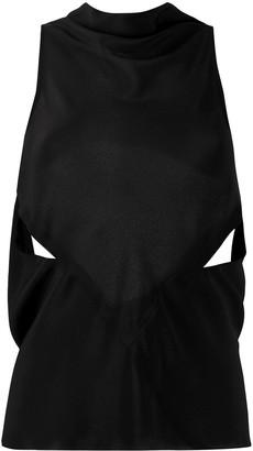 Rick Owens cut-out detail blouse