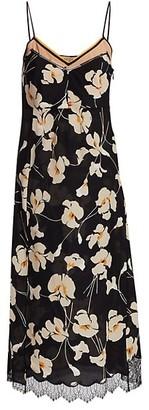 No.21 Silk Floral Midi Slip Dress