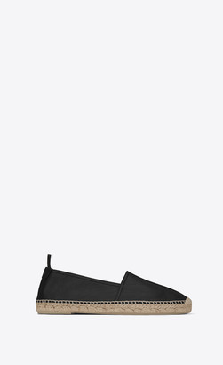 Saint Laurent Monogram Espadrilles In Lambskin Black 10