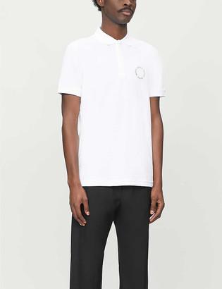 BOSS Logo-print cotton-jersey polo shirt