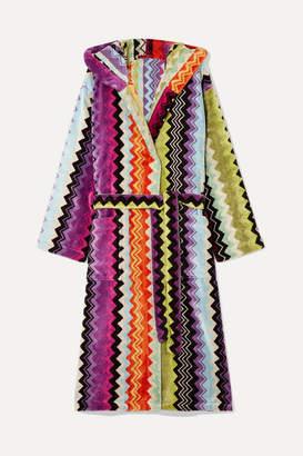 Missoni Home Hooded Cotton-terry Robe - Orange