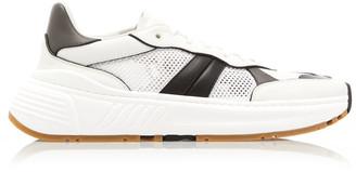 Bottega Veneta Speedster Mesh and Leather Sneakers