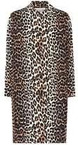 Ganni Fabre leopard-printed cotton coat