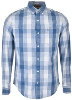 Original Penguin Chambray Plaid Check Shirt Blue