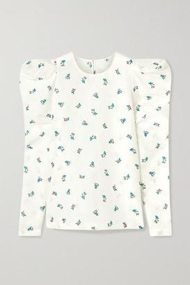 Philosophy di Lorenzo Serafini Floral-print Linen And Cotton-blend Top - White