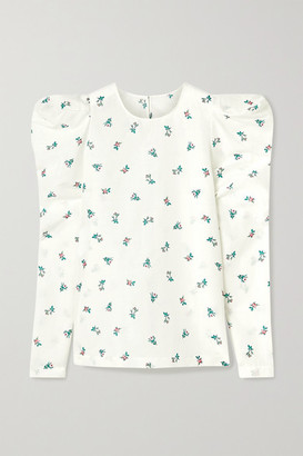 Philosophy di Lorenzo Serafini Floral-print Linen And Cotton-blend Top - White
