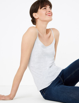 Marks and Spencer 2 Pack Cotton Fitted Camisole Tops
