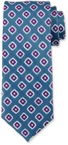 Canali Fancy Diamond Silk Tie, Blue