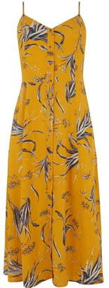 Warehouse Leaf Button Cami Midi Dress