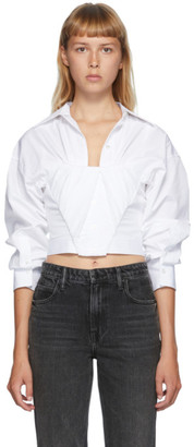 Alexander Wang White Tucked Bustier Shirt