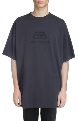 Balenciaga Longline Logo T-Shirt