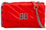 Balenciaga BB Satin Wallet on a Chain