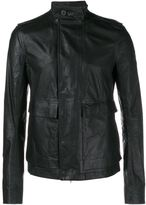Rick Owens Leather Army Jacket - men - Cotton/Calf Leather/Cupro/Viscose - 50