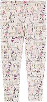Osh Kosh Toddler Girl Glittery Kitty Cat Print Leggings