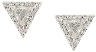 Lizzie Mandler Fine Jewelry 'Trillion' diamond pave stud earrings