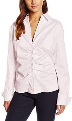 Rene Lezard Women's Blouse - Pink - Small (Manufacturer size: 46)