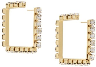 Area Embellished Square Hoops