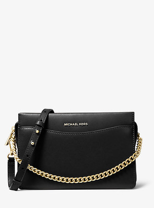 Michael Kors Jet Set Large Leather Chain Crossbody Bag