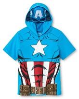 Marvel Captain America Toddler Boys Mask T-Shirt - Turquoise