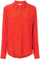 P.A.R.O.S.H. spotted long sleeve shirt - women - Silk - XS
