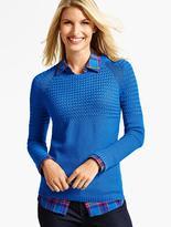 Talbots Basket-Weave & Pebble-Stitched Sweater