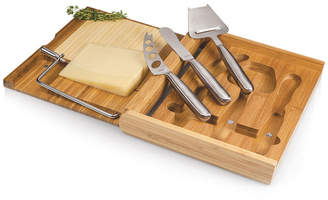 Picnic Time Toscana by Soiree Cheese Cutting Board & Tools Set with Wire Cutter