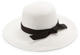 Ava & Aiden Ribbon-Trim Straw Hat