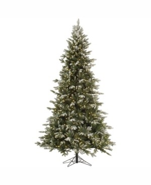 Vickerman 7.5 ft Frosted Balsam Fir Artificial Christmas Tree With 750 Warm White Led Lights