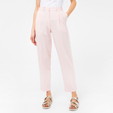 Paul Smith Women's Regular-Fit Pale Pink Pleated Wool Trousers