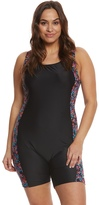 Waterpro Women's Plus Size Floral Burst Splice Unitard 8157705