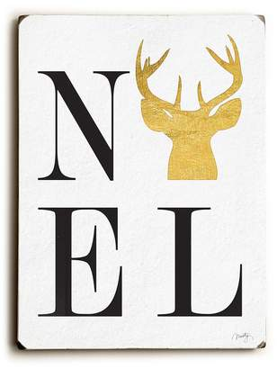 "One Bella Casa Noel Solid Wood Wall Decor by Misty Diller - 9"" x 12"""