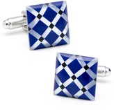 Ice Mother of Pearl Diamond Cufflinks