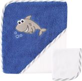 Baby Vision Luvable Friends® Shark Hooded Towel and Washcloth Set in Blue
