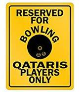 SignPirates Reserved For Bowling Qatar Player Only - Countries - Parking Sign [ Decorative Novelty Sign Wall Plaque ]