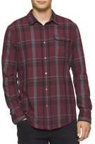 Calvin Klein Jeans Bordeaux Brushed Plaid Shirt